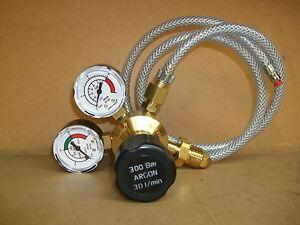 Argon/Co2 Mig Welder 2 Gauge Regulator and mini mig adaptor hose