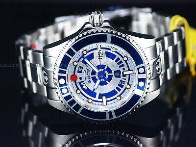 New Invicta Men's 47mm Ltd.Ed. 300M Grand Diver Automatic Silver / Blue SS Watch