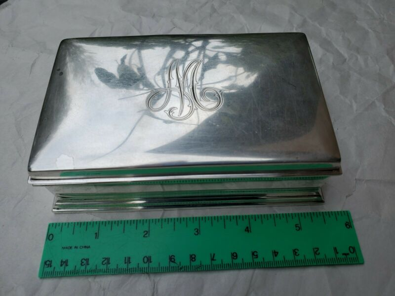 GORHAM STERLING SILVER CIGAR CIGARETTE HUMIDOR CASE JEWELRY TRINKET BOX #314