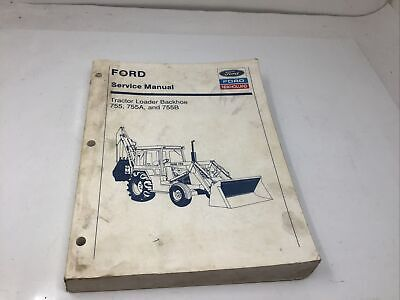 Ford 755 755a 755b Tractor Loader Backhoe Service Shop Repair Manual Free Ship