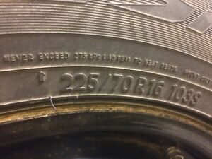 Snow Tires P225/70R16 - Like New!