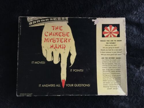Vtg Chinese Mystery Hand Board Game Oracle Fortune Telling Ouija Spirit Ghosts