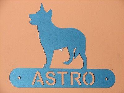 AUSTRALIAN CATTLE DOG METAL HOME ADDRESS SIGN HOUSE