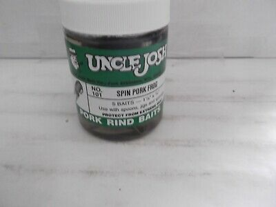 """Uncle Josh Big Daddy Pork #10A 2 Baits 4/"""" x 1.25 Black Red hard color to find"""