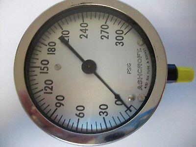 New Ashcroft Pressure Gauge 45-1009-5-02l 4 12 300 Psi