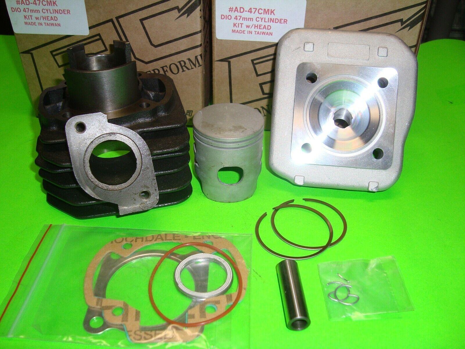 "PG Dio 50 Performance 72cc cylinder bore kit for 94+ Elite 50 DD50 ""SUMMER SALE"""
