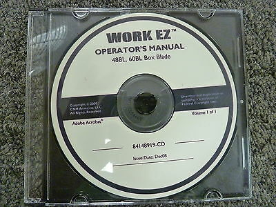 New Holland Work Ez 48bl 60bl Box Blade Owner Operator Maintenance Manual Cd