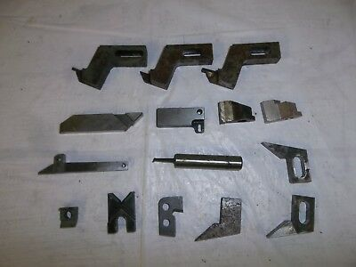 Lot Of 15 Lathe Turning Tools Cutters Machinist Machining Blades Metal
