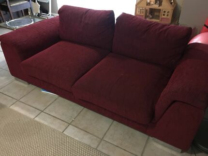 2 piece red couch