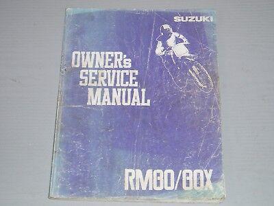 SUZUKI RM80 / 80X OWNERS / WORKSHOP MANUAL