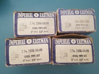 Nos 2 Imperial Eastman No. 24sg-16x08 Steel Pipe Set 1 F.p.t. 12 M.p.t. Qty 4