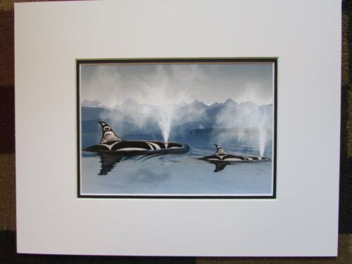 "BREATH 11"" x 14"" Matted Killer Whale art print by Andy Everson  609"