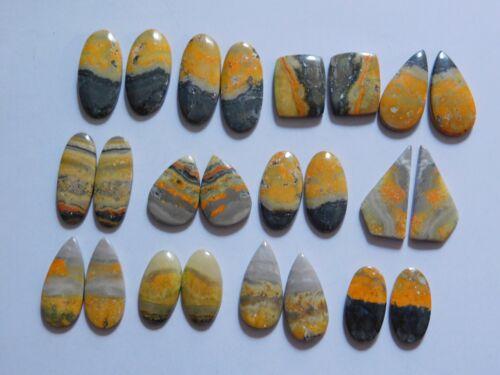 288.40 Cts Natural Bumble Bee Jasper 12 Pair Lot Cabochon Match Pair 09