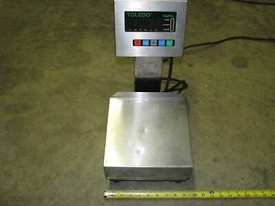 Toledo Stainless Measuring Scale 3026 Digital Weigh Of 18 Lb Capacity 120 Volt