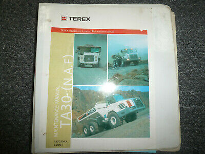 Terex Ta30 Articulated Dump Truck Shop Service Repair Manual 15503045