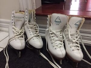 Girls figure skates size 12 and size 2