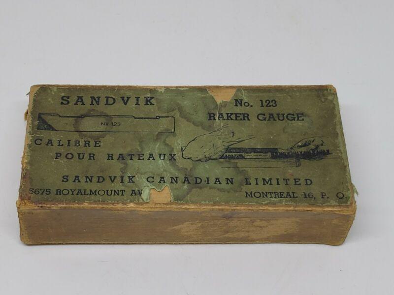 Vintage Sandvik Raker Gauge Montreal In Box
