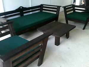 Kingsize 4 Piece Kwila Outdoor Lounge