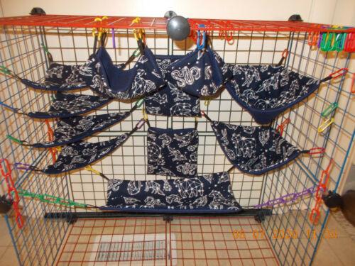 CONSTELLATION GLOW In Dark   Sugar Glider 11 pc cage set
