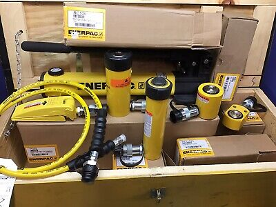 Enerpac Hydraulic Lifting Set Rch123 Rcs101 Wr5 Rc106 Rsm100 Hc7206 P392 Pump