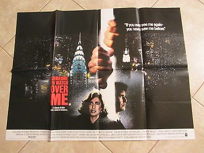 SOMEONE TO WATCH OVER ME movie poster RIDLEY SCOTT, MIMI ROGERS, TOM BERENGER
