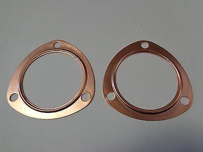 "3"" Copper Header Exhaust Collector Gaskets Reusable SBC BBC 302 350 454 383 New!"