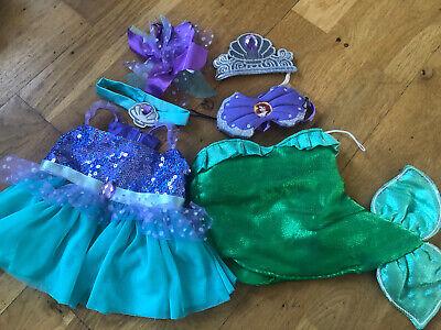 Build A Bear Disney Little Mermaid Ariel Dress Up Clothes Bundle Outfits