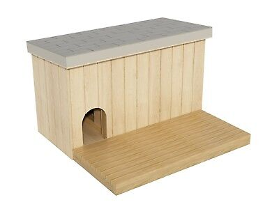 Large Outdoor Dog House Plans DIY Wooden Doghouse Pet Shelter Kennel With Patio