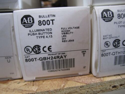 NEW ALLEN BRADLEY 800T-QBH24RAY PUSH BUTTON