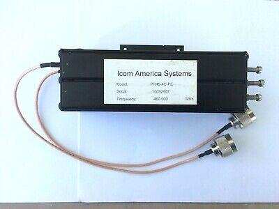 Icom Fiplex Pr45-4c-pe Preselector Band Pass Filter Uhf 50 Watt Repeater