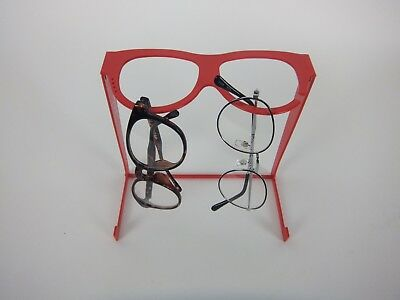 Megane Megane Glass Stand/Glasses Type Stand of Glasses/Red/With Pierce Hook/New