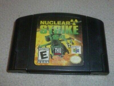 NINTENDO N64 VIDEO GAME 64 CARTRIDGE ONLY NUCLEAR STRIKE THQ CART