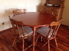 Solid timber dining table and chairs seats4 plus buffet with hutch Parramatta Parramatta Area Preview