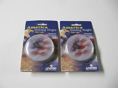 2 new leviton america shinning bright flag