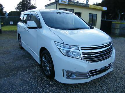 2010 Nissan Elgrand (#3345) 2.5L Peal White 8 Seater Moorabbin Kingston Area Preview