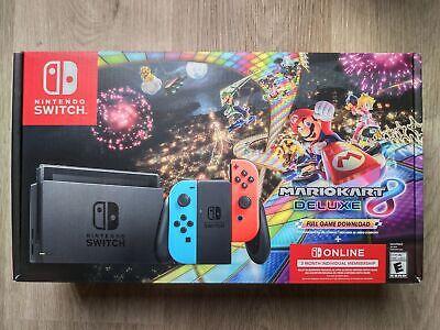 ✅ Nintendo Switch Mario Kart 8 Console - Deluxe Bundle w/ Neon Blue/Red Joy-Con