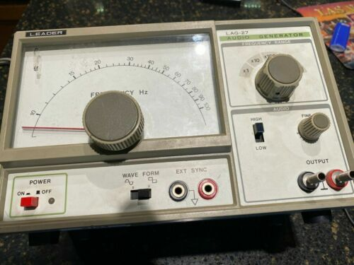 Leader LAG-27 Audio Signal Generator 1 Hz to 1 MHz Tested