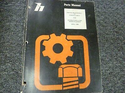 International Harvester L125e Crawler Loader Parts Catalog Manual Revision 0480