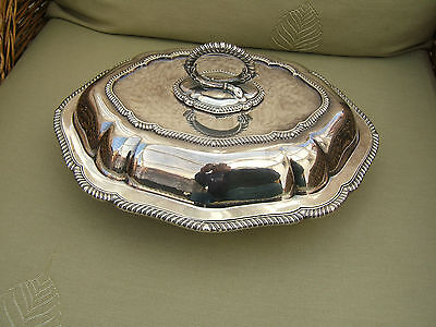SILVER PLATED OVAL ENTREE DISH  WITH LID  (NEVER USED)                         2