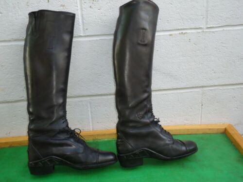Ariat 55501 Field Boot Black Leather ,Regular/Medium Women SZ#7.5 Made in Italy