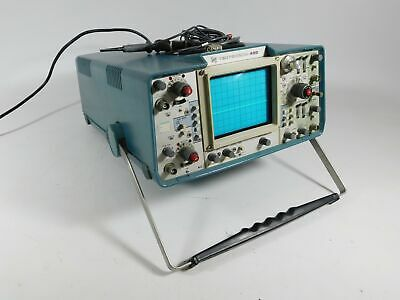Tektronix 455 60mhz 2-channel Oscilloscope W P6062b P6006 Probe Powers Up