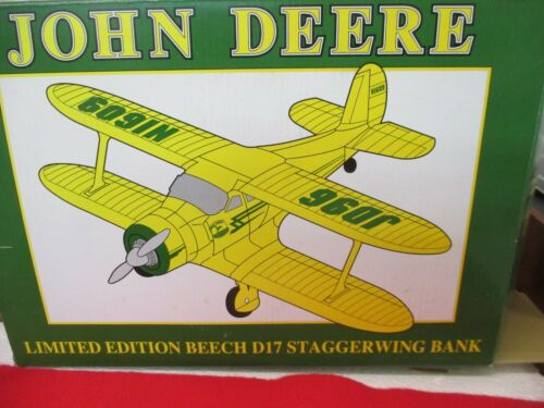 JOHN DEERE BEECH D17 STAGGERWING BANK LIMITED EDITION  NEW IN BOX