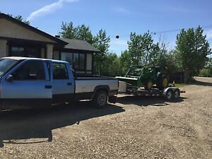 Truck and trailer ready to haul