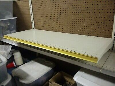 Heavy Duty Gondola Grocery Retail Shelving 48 X 20 Almond Finish Lightly Used