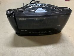 PROJECTOR Emerson Research CKS3526 Smart Set Dual Alarm Clock Radio Works!