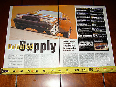 1996 CHEVROLET IMPALA SS TWIN TURBO 900 H.P. - ORIGINAL 2004 ARTICLE ()