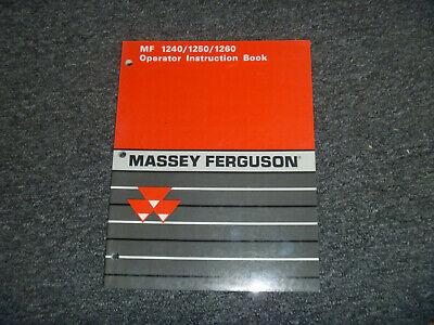 Massey Ferguson Mf 1240 1250 1260 Tractors Owner Operator Maintenance Manual