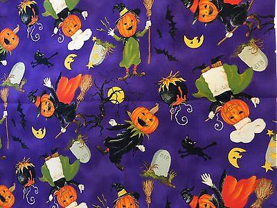 Michael Miller Happy Halloween Jack O Lantern Pumpkin Characters Fabric BTHY](Michael Miller Halloween Fabric)