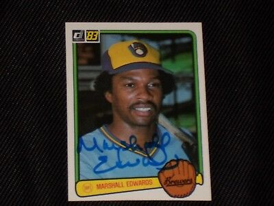 Marshall Edwards 1983 Donruss Signed Autographed Card  406 Brewers Tough
