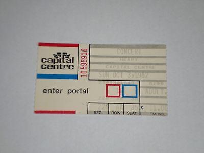 Heart Concert Ticket Stub 1982 Private Audition Tour Capital Centre Landover Md